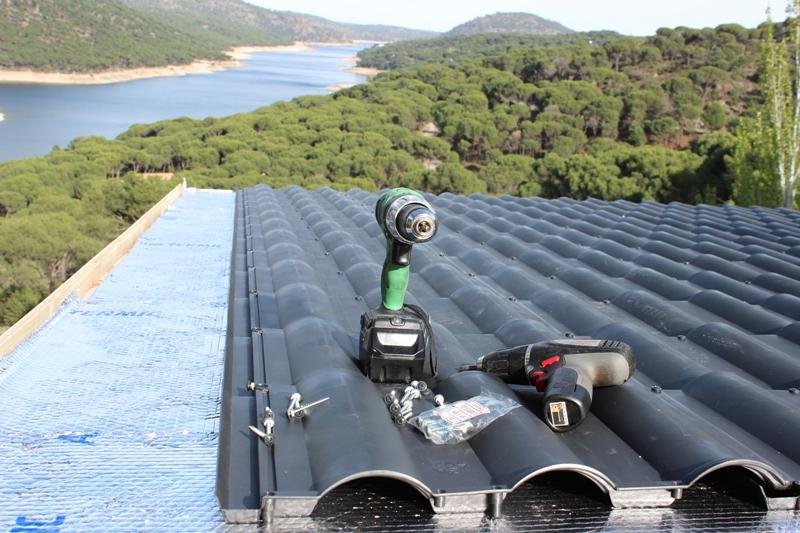 tejas para tejados con poco peso