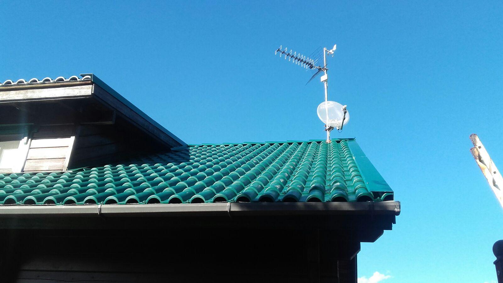 Renovaci n tejado casa madera de t gola a teja pl stica for Tejados de madera y teja